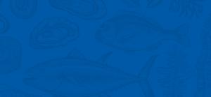 Saltwater Seafood Blue Background